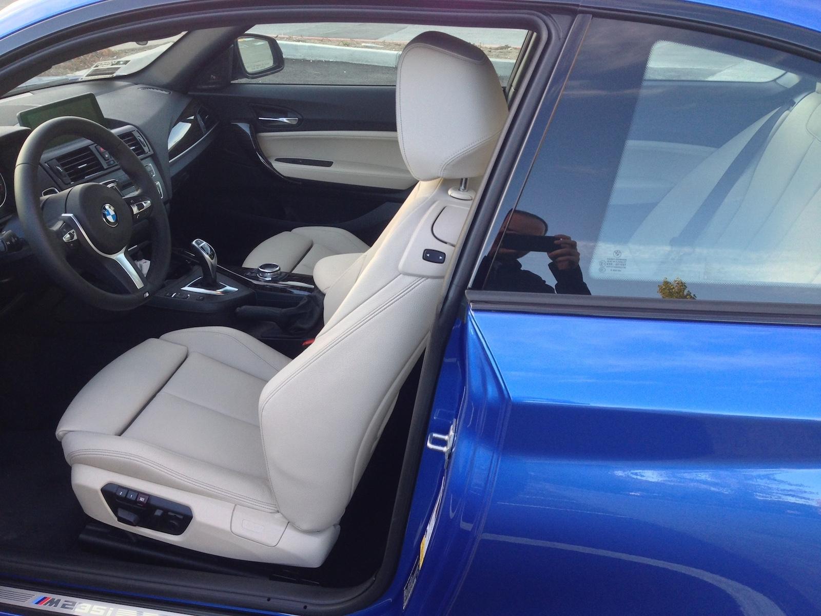my new m235i estoril blue w oyster interior
