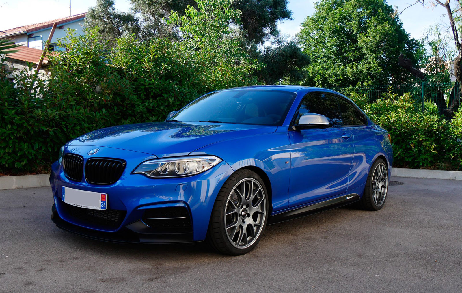 my new estoril blue m235i a m perf mods bbs ch r. Black Bedroom Furniture Sets. Home Design Ideas