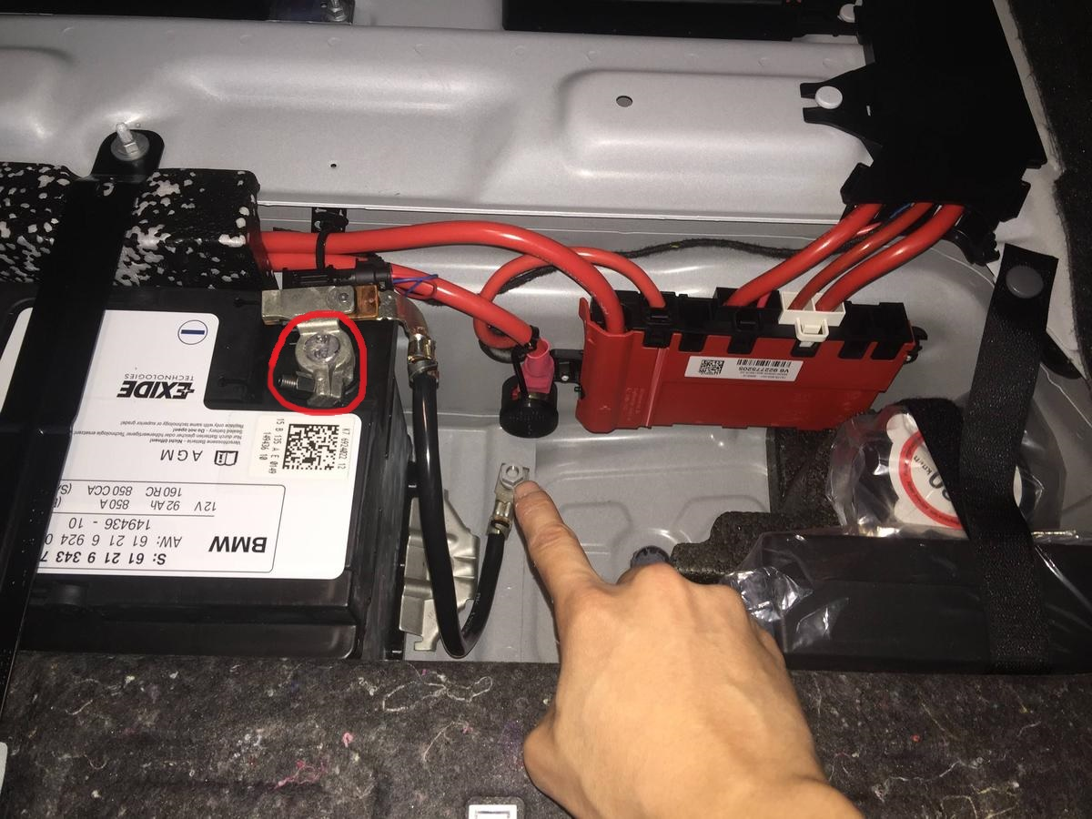 Is This The Negative Battery Cable In Trunk 2015 M235i Bmw X1 Wiring Attached Images