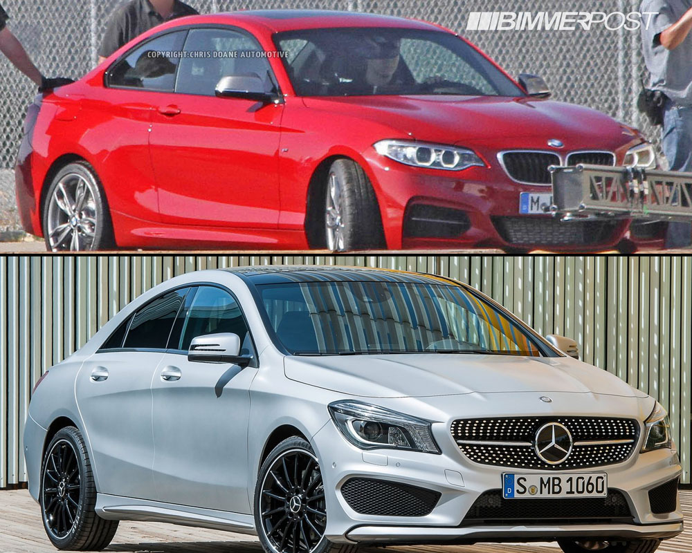 bmw m235i vs mercedes cla 250 sport visual comparo
