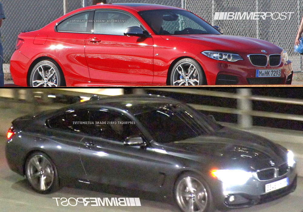 BMW 2 Series F22 vs 4 Series Coupe F32  Spied Models Compared