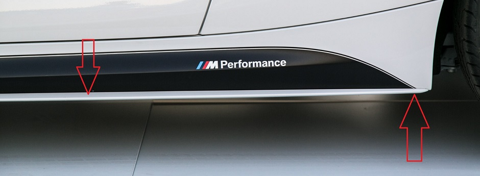 Mi Alpine White With Carbon Fiber Ordered - Bmw rocker panel decals